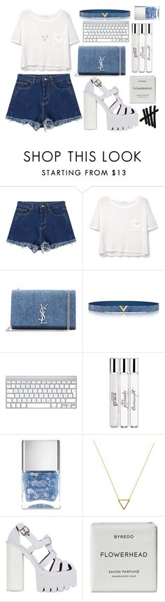 """Bad girls ain't no Good, the good girls ain't no FUN"" by littlemisscupcake88 ❤ liked on Polyvore featuring Chicnova Fashion, MANGO, Yves Saint Laurent, philosophy, Nails Inc., Wanderlust + Co, Jeffrey Campbell, Byredo, white and denim"