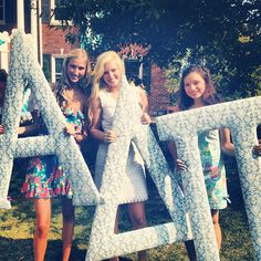 ADPi fabric letters
