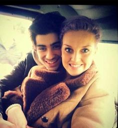 Zayn and Perrie today.