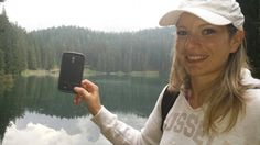 My wife, her Peli Case and the Unesco Lake of Carezza...3 beautiful things.  Picture by Arrigo Pagnotta - Italy