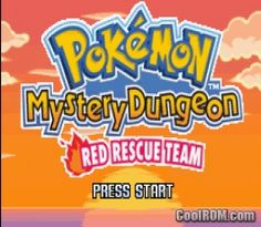Pokemon Mystery Dungeon  Red Rescue Team ROM Download for Gameboy Advance /