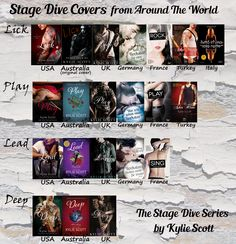 The Stage Dive series by Kylie Scott - Book covers from around the world.