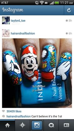 These mickey nails are to die for