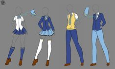 53 Ideas for drawing anime manga school uniforms Manga Clothes, Drawing Anime Clothes, Dress Drawing, Manga School, Anime Uniform, Fall Outfits, Cute Outfits, Clothing Sketches, Poses References