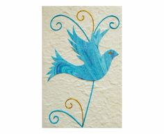 Marbled Dove Card crafted from handmade paper in Thailand