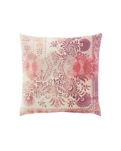 Hand painted pillow - would be fun to try a DIY version! (Tracy Porter Pink & Aqua Pillows - Horchow)