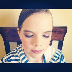 My Darling Hannah for her Ballet Recital. Tween makeup!