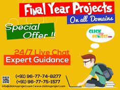 #Clickmyproject #FinalYearProjects #ProjectGuidance #LiveChat #IEEEFinalYearProject #FinalSemesterProjects Instant Purchase of your projects @ Clickmyproject