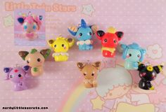 Pokemon Eevee Evolutions Chibi Kawaii Charms Set (Now with Sylveon) by NerdyLittleSecrets on Etsy https://www.etsy.com/listing/124105444/pokemon-eevee-evolutions-chibi-kawaii