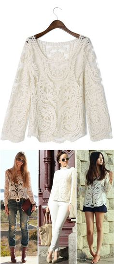 Delicacy Crochet Top - Different ways to wear this pretty top