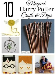 Got a Harry Potter fan in your life? Here are 10 Magical Harry Potter crafts you can make for them, including wands, scarves, snitches and DIY wizard robes! Save Money DIY #DIY