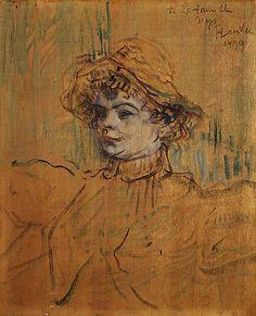Mademoiselle Nys / by Henri de Toulouse-Lautrec / 1899 / Oil on unprimed wood