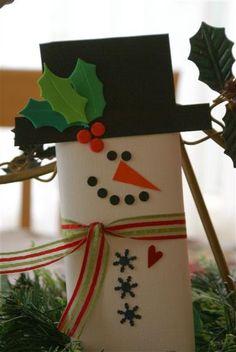 ScrapBizness: Cute Snowman Candy Bar
