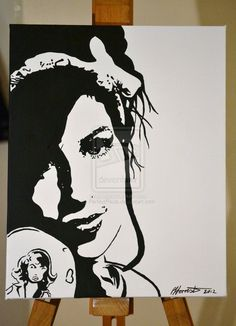 Amy Winehouse painting by PerfectPaula on DeviantArt