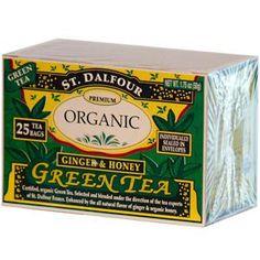 St. Dalfour, Ginger & Honey Green Tea, 25 Tea Bags, 1.75 oz (50 g) - iHerb.com. Bruk gjerne rabattkoden min (CEC956) hvis du vil handle på iHerb for første gang. Da får du $5 i rabatt på din første ordre (eller $10 om du handler for over $40), og jeg blir kjempeglad, siden jeg får poeng som jeg kan handle for på iHerb. :-)