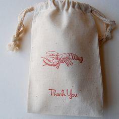 Lobster Favor Bags / Set of 10 / Wedding Favor by littlechicklets, $12.50