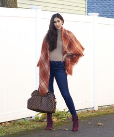 In this blog post, I share not only some inspo for wearing orange and burgundy together in one outfit, but tips on wearing them separately. Orange can be a challenging and intimidating color to reach for, I share what you should consider. Stop by for all the details and to shop this look! Hourglass Body Shape, Apple Body Shapes, Burgundy Boots, Flattering Outfits, Blanket Scarf, Looking Forward To Seeing, Beige Color, All Fashion, Fashion Boutique