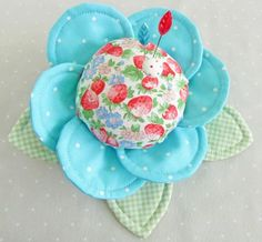 """With Fabric & Thread"" Pin Cushion Buttercups - Pretty by Hand"