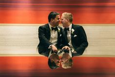An elegant and fun same-sex winter wedding at the stunning State Room in Boston. Images by artistic documentary photographer Photography by KLC