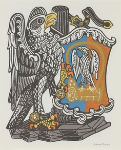 "The Falcon of the Plantagenets from ""The Queen's Beasts"" by Edward Bawden"