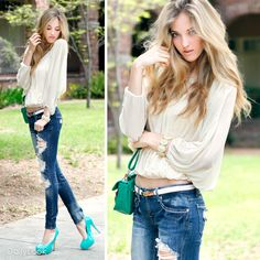 Get Her To The Green Look By Machine Jeans and Glaze