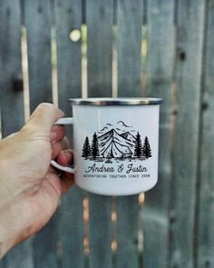 Personalized Campfire Mug coffee mug coffee camping Marker Crafts, Couple Mugs, Beer Shirts, Wedding Gifts For Couples, Beer Lovers, Wedding Favors, Wedding Ideas, Diy Wedding, Wedding Planning