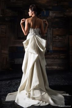 carol hannah bridal 2014 les astress strapless wedding dress back view over skirt