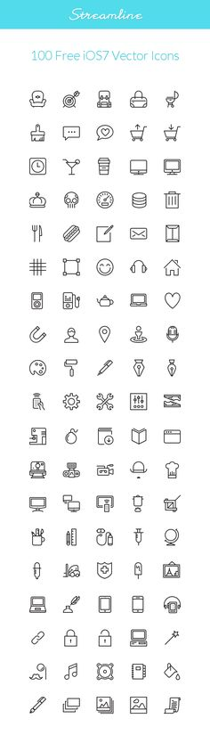 Streamline: iOS7 Vector Icons | GraphicBurger