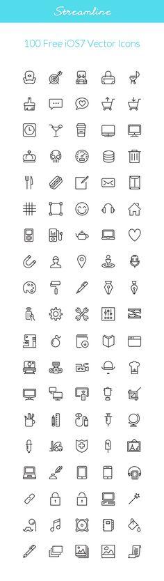 Streamline: #iOS7 #Vector #Icons | GraphicBurger
