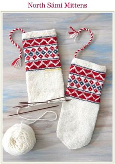 Ravelry: North Sámi Mittens pattern by Laura Ricketts Mittens Pattern, Knit Mittens, Knitted Gloves, Fair Isle Knitting, Hand Knitting, Knitting Patterns, Crochet Patterns, Diy 2018, Fingerless Mitts
