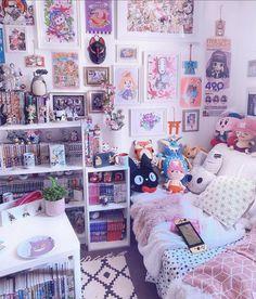 Cute Room Decor, Room Ideas Bedroom, Bedroom Decor, Kawaii Bedroom, Gaming Room Setup, Game Room Design, Gamer Room, Aesthetic Room Decor, Costume Ideas