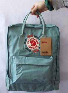 Embroidered Fjällräven Kanken Backpack - Another! Mochila Kanken, Embroidery Bags, Cute Embroidery, Denim Converse, Cute Backpacks, Cute Bags, Diy Clothes, Vsco, Backpacker