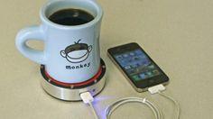 Устройство onEPuck заряжает телефон от остывающего кофе