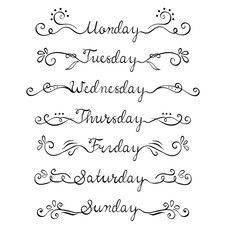 days of the week hand lettering - Google Search #ad