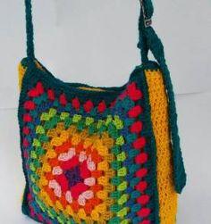 Bolsa crochet square