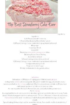 Best Strawberry Cake Ever!