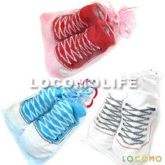 3 Pair LOCOMO Baby Toddler Anti Slip Socks Slippers Shoes 0-6 Month//7-9cm//FBA013