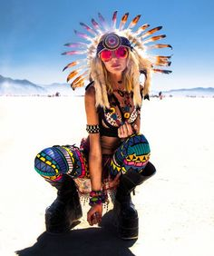 Самые яркие девушки фестиваля Burning Man (фото)