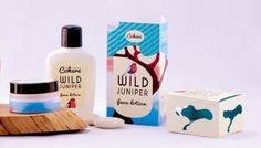 Wild Juniper Cohere Spa cosmetics on Behance Clever Packaging, Innovative Packaging, Pretty Packaging, Beauty Packaging, Branding, Face Lotion, Packaging Design Inspiration, Soft Colors, Vodka Bottle