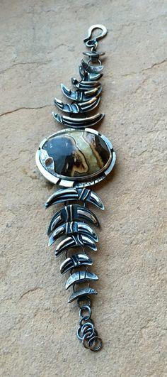 Julianne Van Buskirk Sterling silver, Simbircite  Under the Primordial Moon bracelet, custom order