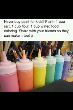 Homemade paint for kids