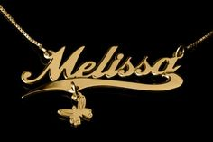24K gold plated alegro name necklace with a line and a charm