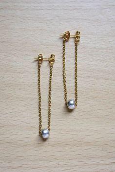 Chain Earrings DIY #HandmadeJewelry