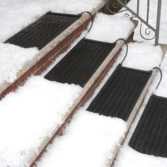 HeatTrak Residential #Snow-Melting Stair Mat / The HeatTrak Residential Snow-Melting Stair Mat will relieve you of the burden of clearing snow off the stairs and make walking safe and slip-proof 24/7 throughout the winter. http://thegadgetflow.com/portfolio/heattrak-residential-snow-melting-stair-mat/ #wintergadgets