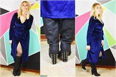 Abito blu valentino leather