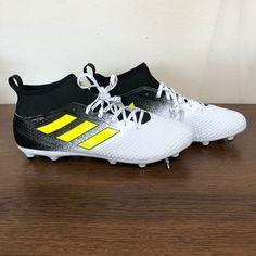 Brand new Men size 12 White/ black/ neon yellow Adidas Cleats, Adidas Sport, Black Neon, Neon Yellow, New Man, Size 12, Footwear, Brand New, Men