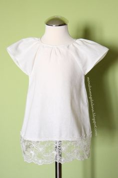 Sukienka dziecięca z kremowego lnu r. 62-68 w Monika Magdalena  na DaWanda.com