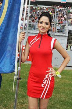 Grid girl.  Formula One World Championship, Rd17, Indian Grand Prix, Buddh International Circuit, Greater Noida, New Delhi, India, Race, Sunday, 28 October 2012