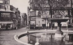 place Pigalle - Paris 9ème La place Pigalle vers 1950. Les cinémas et cabarets apparaissent... (ancienne carte postale).