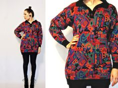 Vtg 80s/90s Colorful Geometic cyber sweater by FrankieMariebyRehcy, $44.99 #vintagefashion #vintage #cybergoth #digitalprint #cybersweater #cybertop #cybershirt #uniquesweater #rainbowcolors #80sfashion #90sfashion #1980s #1990s #ilovethe80s #ilovethe90s #80skid #colorfultop #colorfulsweater #fashionblogger #fashionblog #thatrehcychic #rehcychic #rehcy #frankiemariebyrehcy #fmbr #cyberstyle #cyberprint #crazysweater #etsyvintage #tribalprint #cybertribe #digitaltribe #tribal #tribalsweater